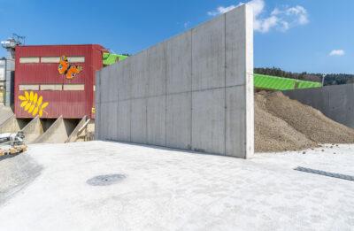 RC-Beton / Recyclingbeton Sichtwand